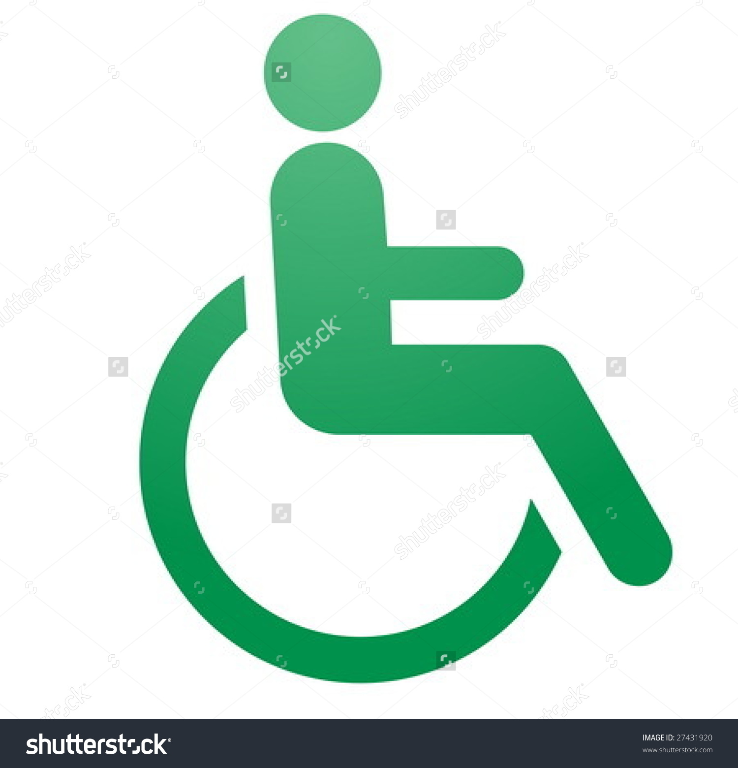Handicap Symbol Illustration Icon Wheelchair Clipart Stock Vector.