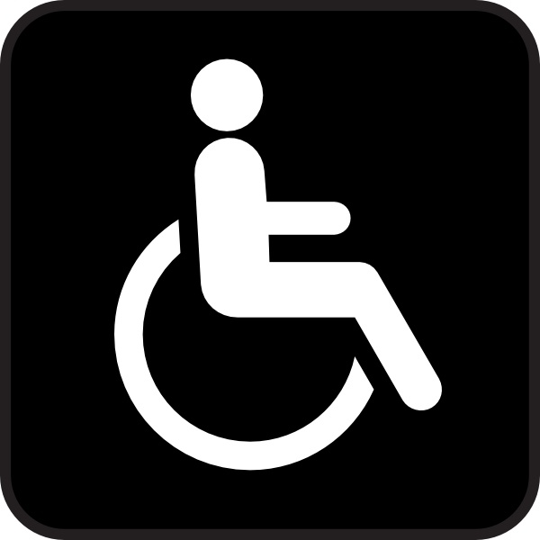 Wheel Chair clip art Free vector in Open office drawing svg ( .svg.