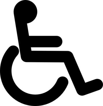 Wheelchair Logo Vector.