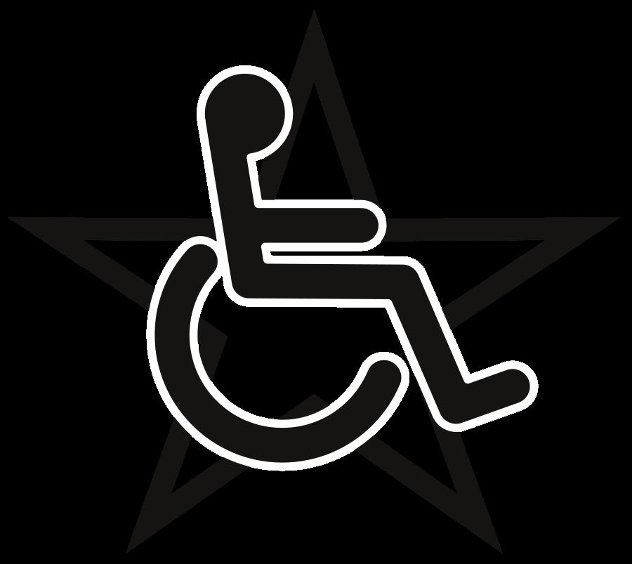 Wheelchair Clipart Vector.