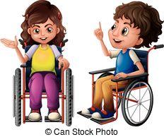 Children wheelchair Vector Clipart Royalty Free. 478 Children.