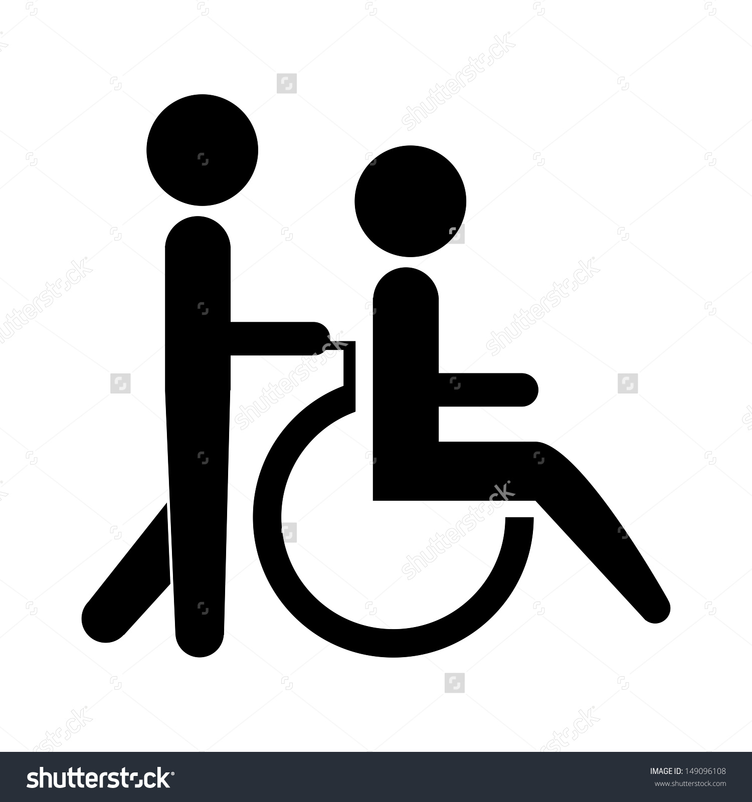 Wheelchair Icon Clipart.