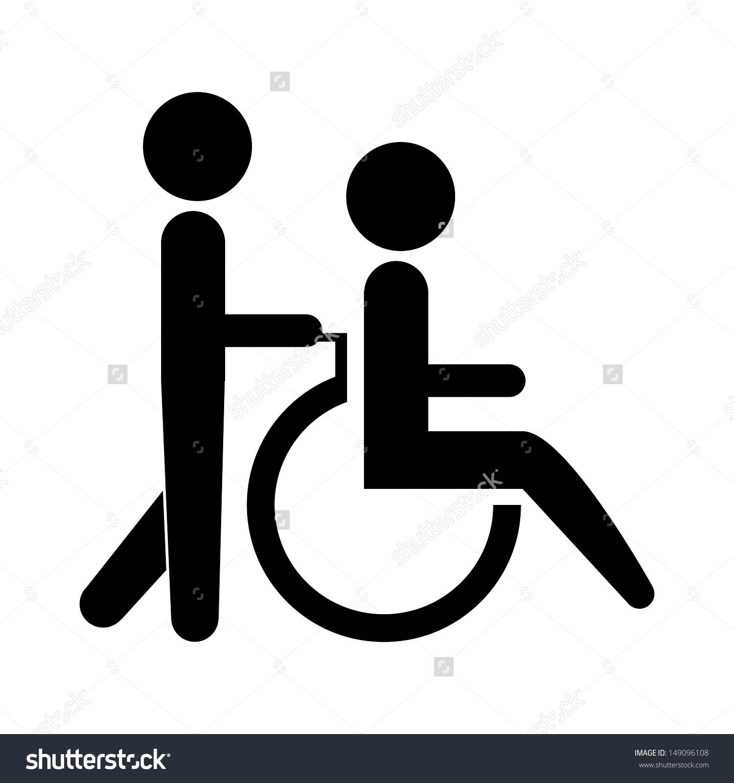 Wheelchair Icon Clipart.