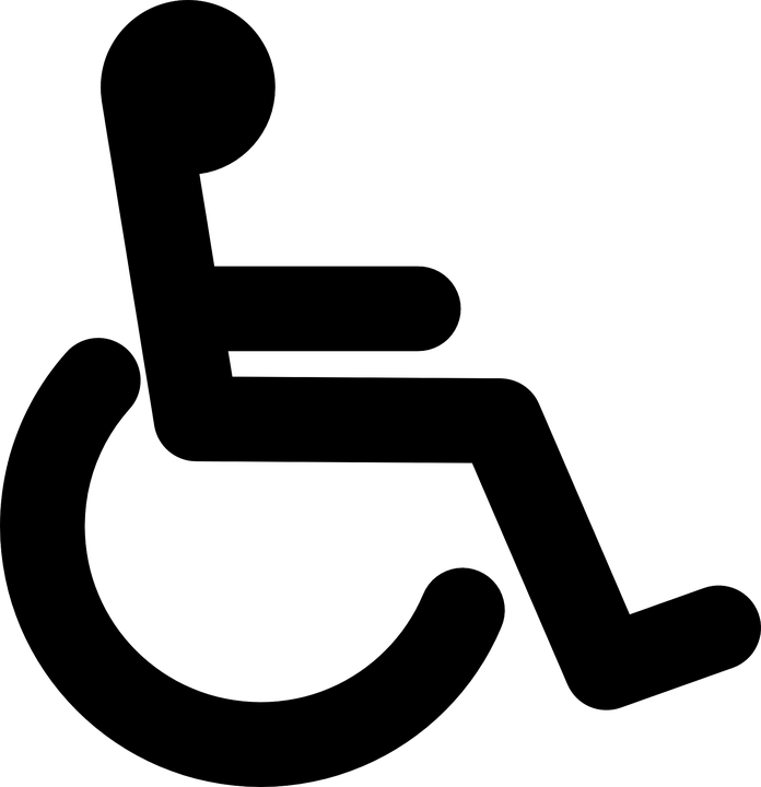 Wheelchair Black Handicap.
