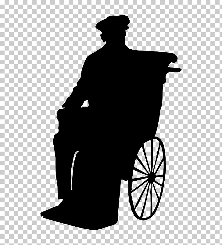 Silhouette Wheelchair Man, wheelchair PNG clipart.