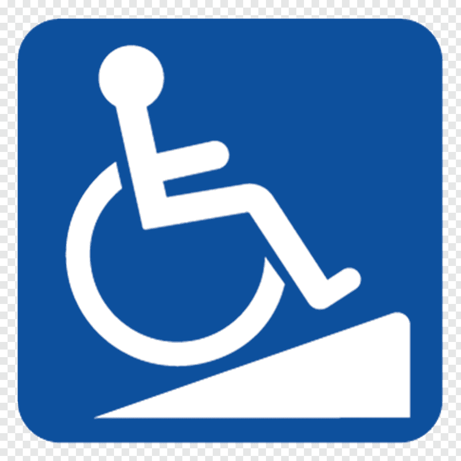 Disability Wheelchair ramp ADA Signs Accessibility.