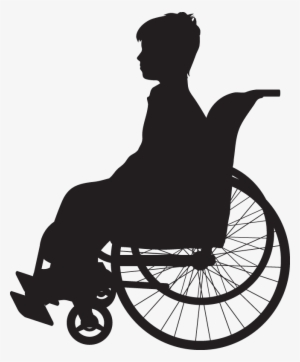Wheelchair,Sitting,Clip art,Silhouette,Vehicle,Disabled sports.