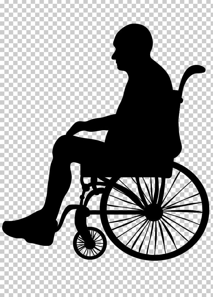 Silhouette Wheelchair Old Age Illustration PNG, Clipart, Cartoon.