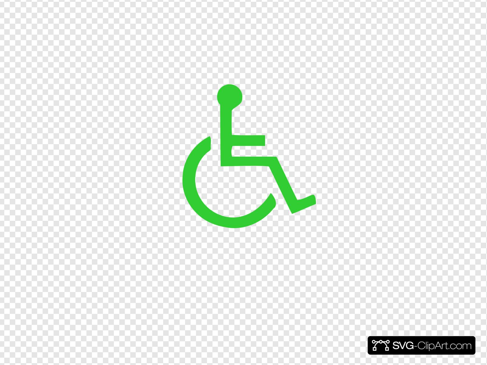 Wheelchair Symbol Clip art, Icon and SVG.