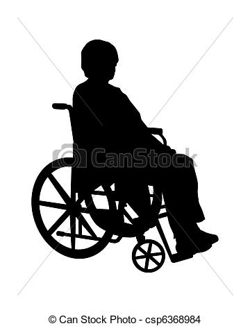 Drawing of Wheelchair csp6368984.