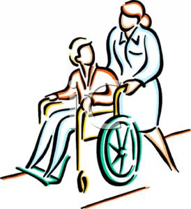 Person in wheelchair clipart.