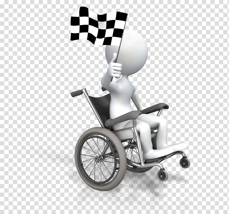 Wheelchair racing Animation Disability Stick figure.
