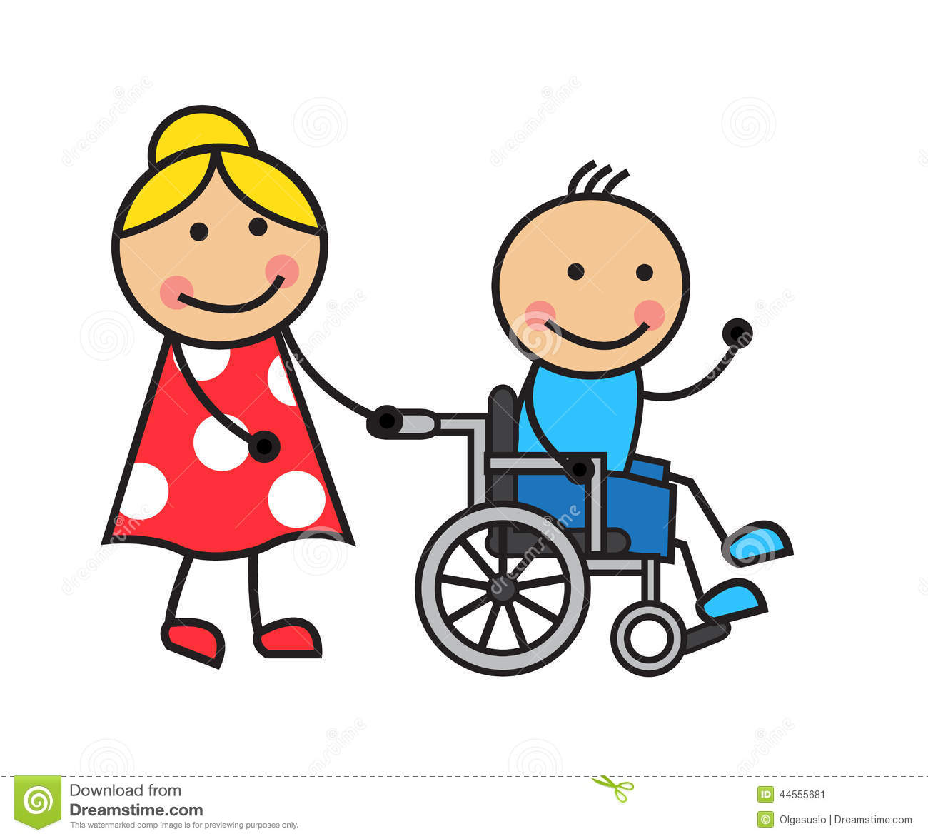 Clip Art Wheelchair Royalty Free Stock Images.