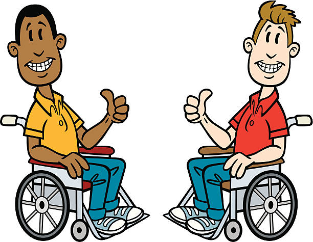 Wheelchair Bound Cartoon Clip Art, Vector Images & Illustrations.