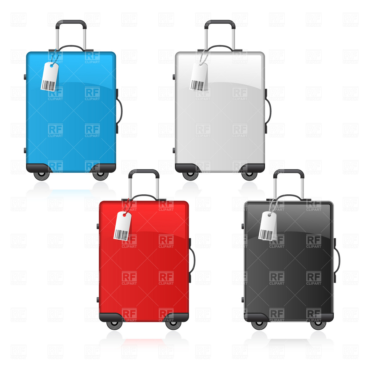 Open suitcase Vector Image #1716.