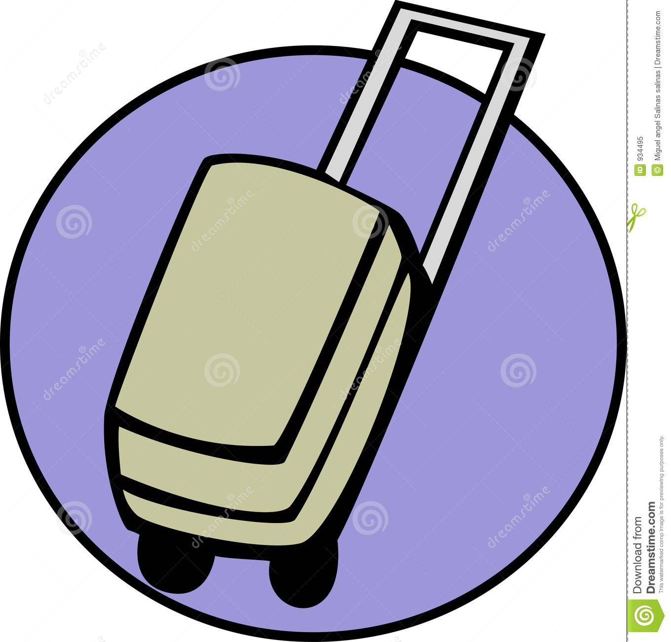 Luggage, Suitcase Or Briefcase. Vector Available Royalty Free.