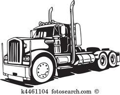 18 wheeler Clipart EPS Images. 784 18 wheeler clip art vector.