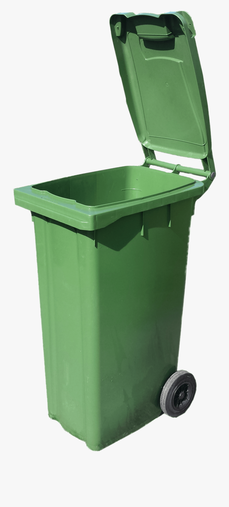 Green Wheelie Bin Open , Free Transparent Clipart.
