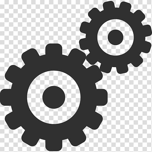 Two gray cogs illustration, wheel automotive tire gear rim.