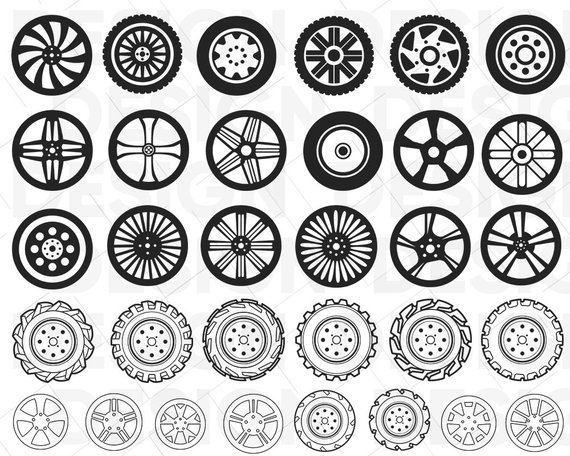 Wheel svg, tires svg, car svg, Alloy Wheels, road, race, tractor.