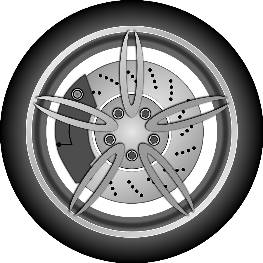 Car wheel racing wheels clip art at vector clip art image #18170.