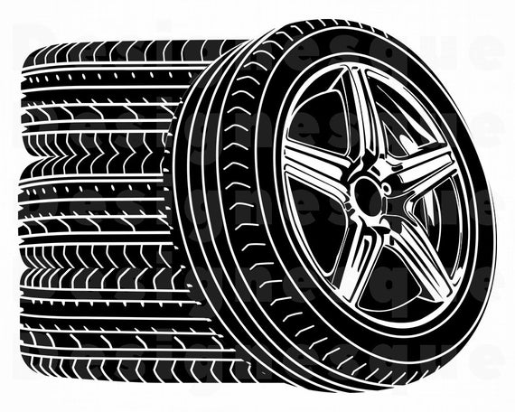 Wheel Logo SVG, Wheels Svg, Tire Svg, Body Shop Svg, Car Wheel Svg,  Clipart, Files for Cricut, Cut Files For Silhouette, Dxf, Png, Vector.