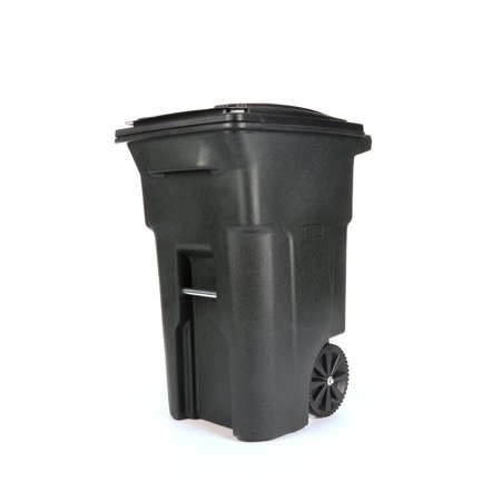 Toter 64 Gal. Trash Can Greenstone with Wheels and Lid.
