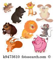 Lions whelp Clipart Vector Graphics. 15 lions whelp EPS clip art.