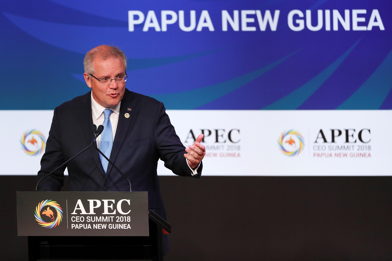 U.S. joins Australian plan to develop new Pacific naval base.