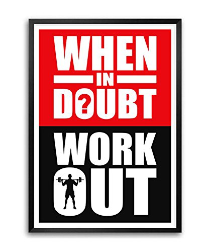 LAB NO 4 When in Doubt Workout Gym Motivational Quote in A3.