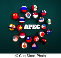Asia pacific economic cooperation Clip Art and Stock.