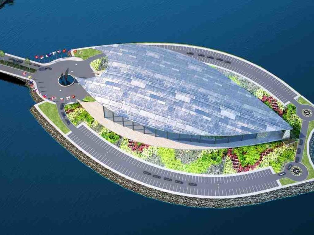 Work starts on landmark building for 2018 APEC summit.