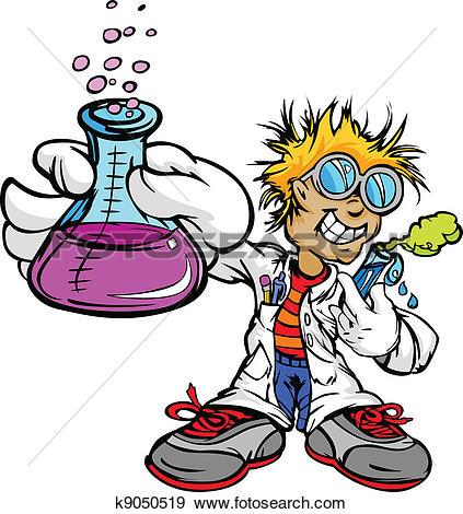 Clip Art of Kid Scientist Inventor Boy k9050519.