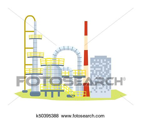 Large Many Stored Plant on White Background. Clip Art.