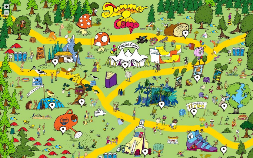 Community Map Clipart.