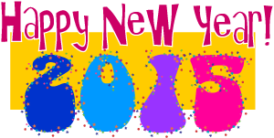 New Years 2015 Decorations Clipart.