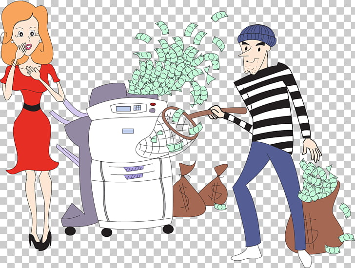 Printing Ink Document Business , Watercolor money PNG.