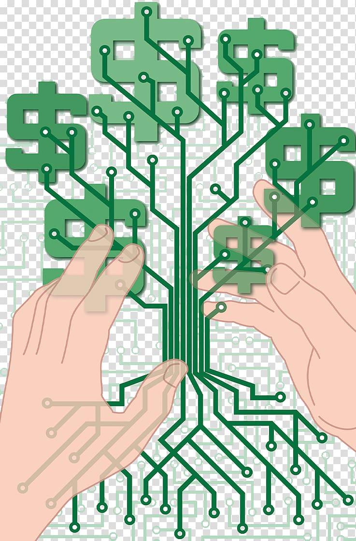 Electronic circuit Printed circuit board Money Electrical.