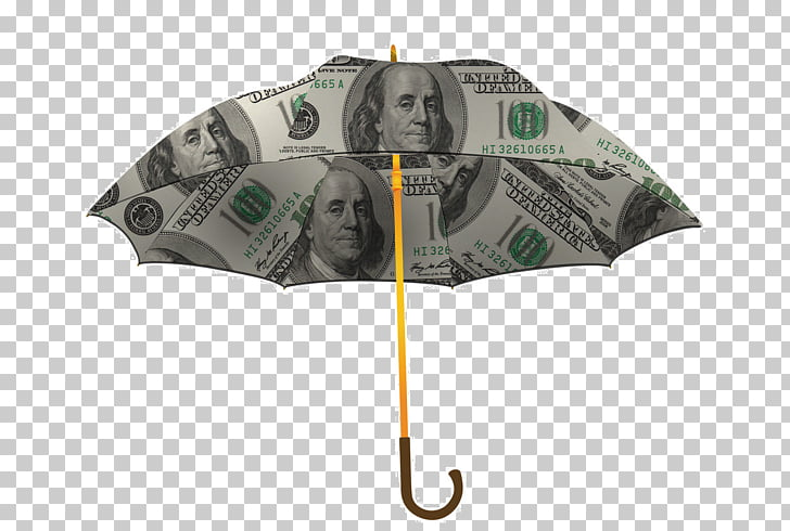 Money Banknote, Printed banknotes umbrella PNG clipart.