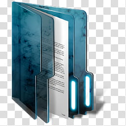 Blue Windows Folders, blue file binder transparent.