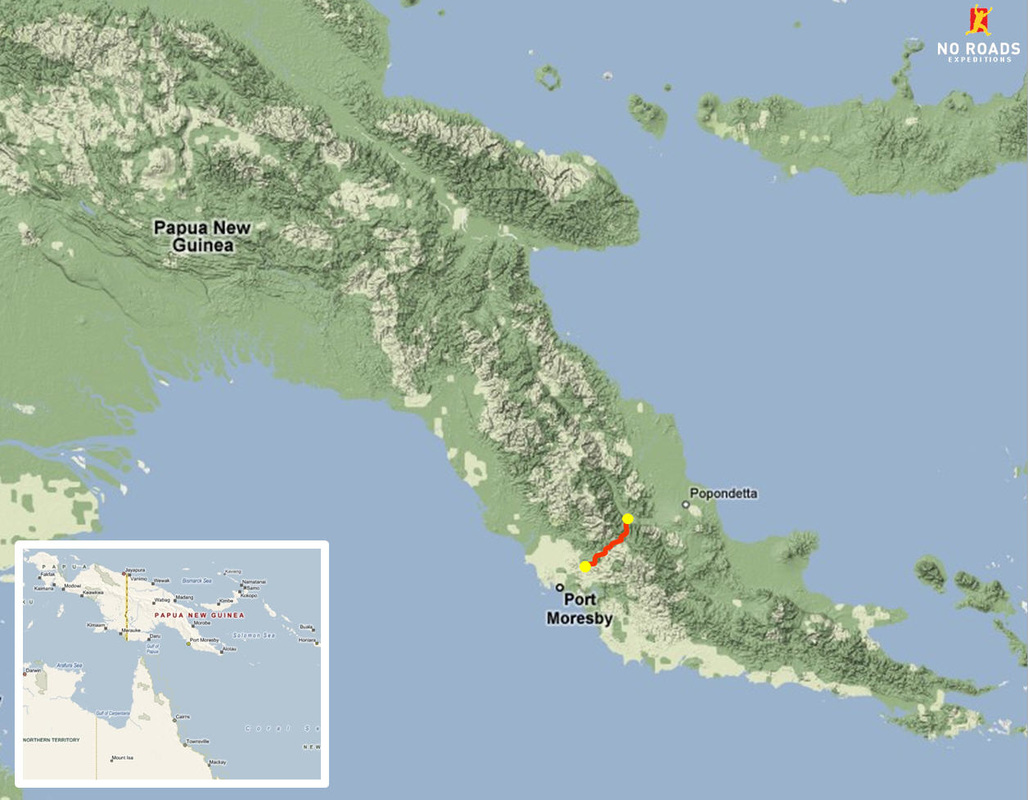 Location of the Kokoda Track in Papua New Guinea.