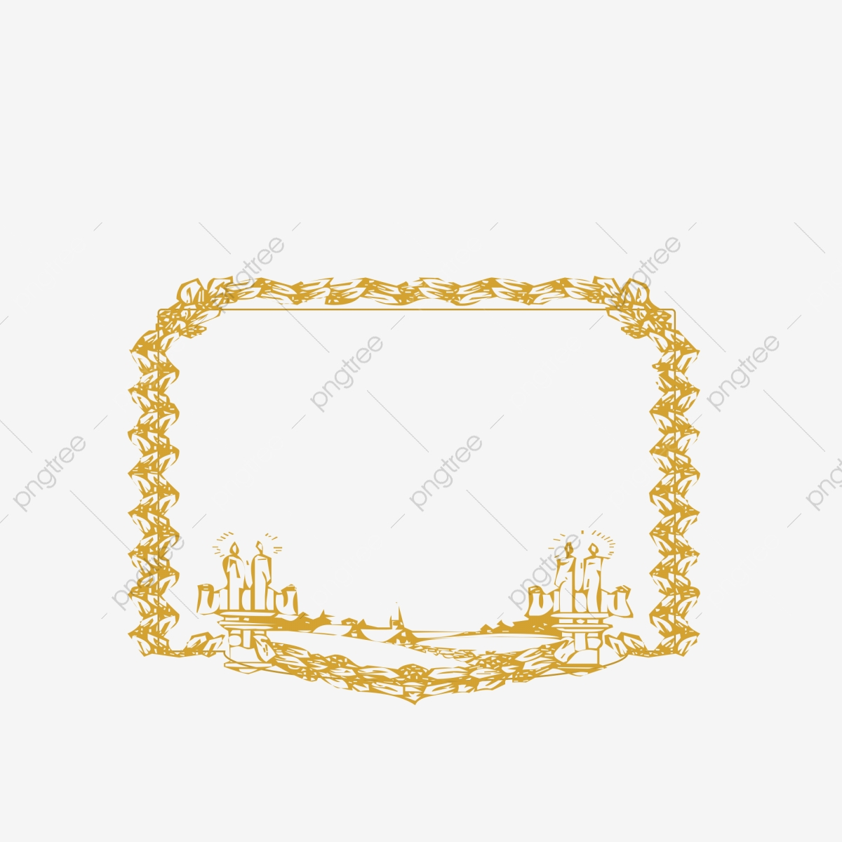 European Classical Border Text Gold Can Be Used Commercially, Gold.