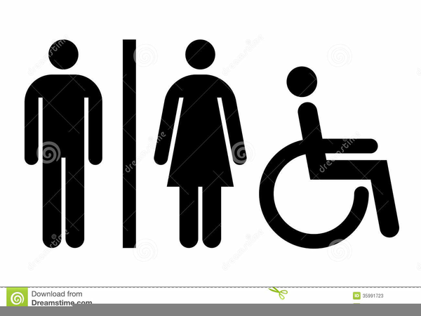 Female Restroom Clipart.