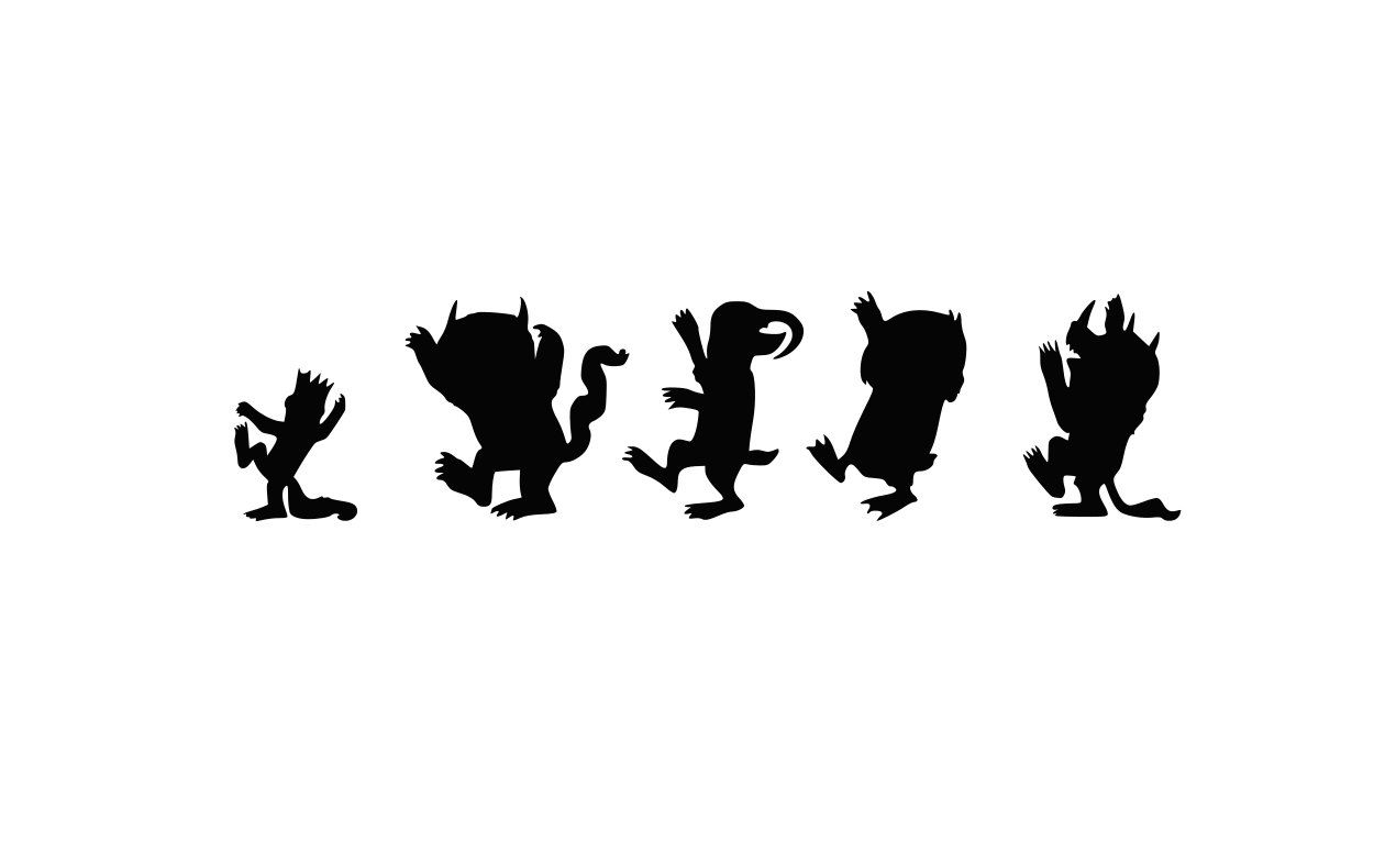 The Wild Things Are Characters Clip Art Where The Wild Things Are.