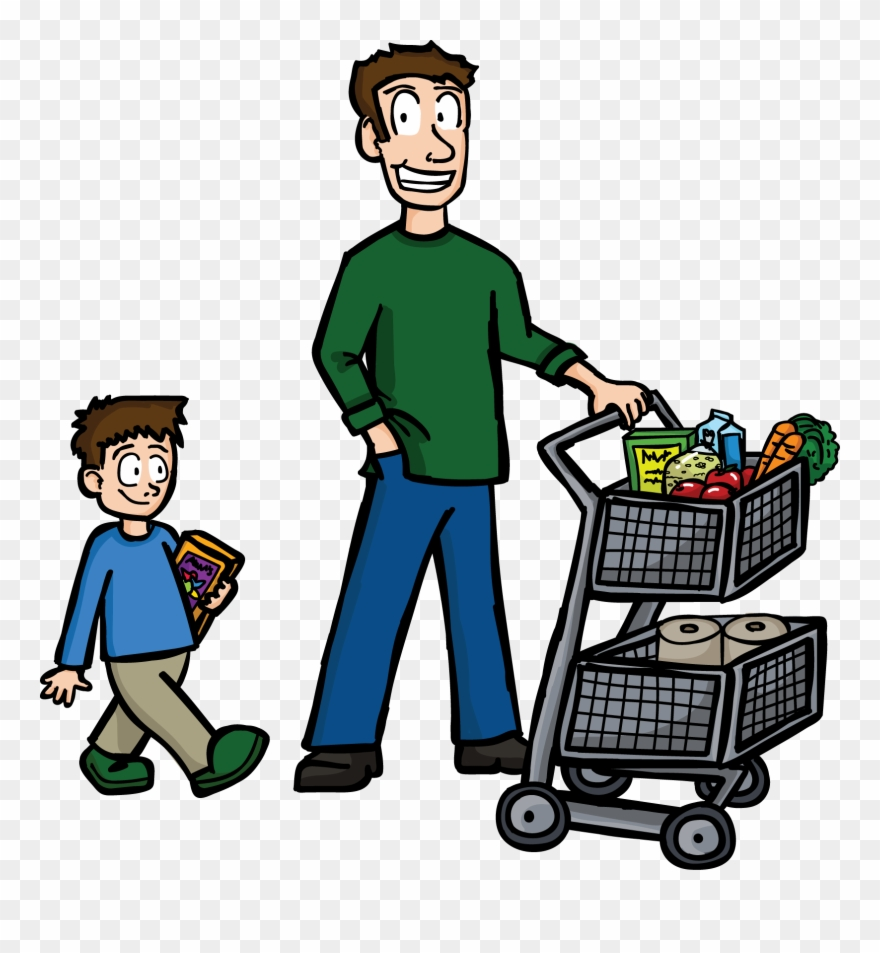 Clip Transparent Library Buy Clipart Food Shopping.
