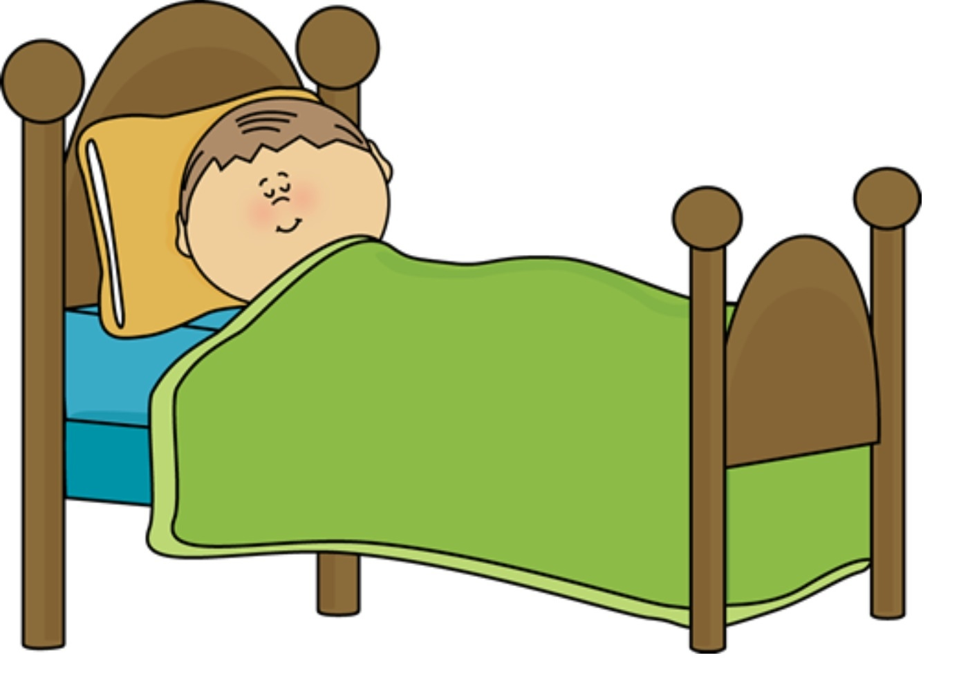 Stay In Bed Clipart.