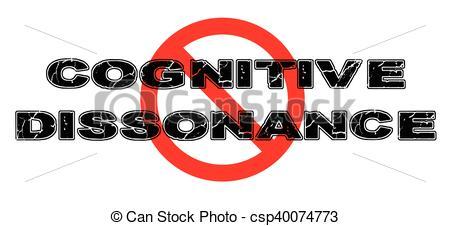 Vectors Illustration of Ban Cognitive Dissonance, wherein personal.