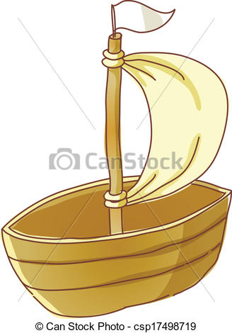 Vector Clip Art of A floating wherry csp17498719.