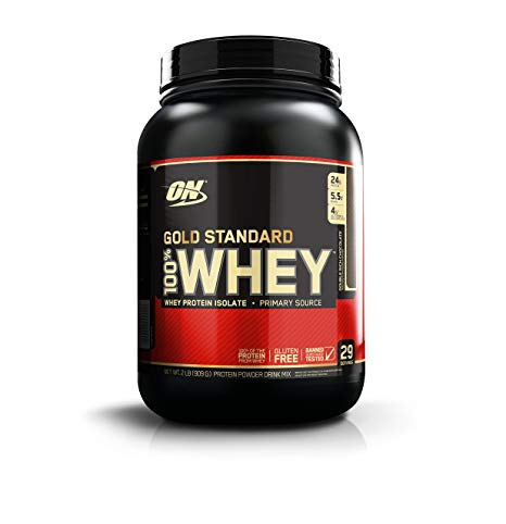 OPTIMUM NUTRITION GOLD STANDARD 100% Whey Protein Powder, Double Rich  Chocolate, 2 Pound.