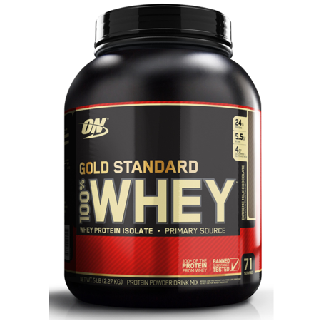 Optimum Nutrition Gold Standard 100% Whey Protein Powder, Extreme Milk  Chocolate, 24g Protein, 5 Lb.
